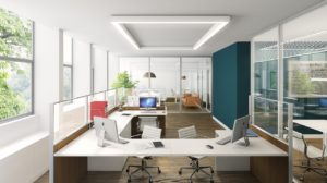 office, minimal, render